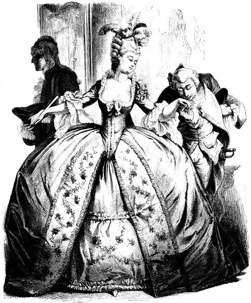 Костюма в иллюстрациях 18 век франция