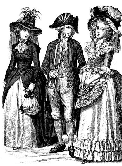 История костюма в иллюстрациях 18 век