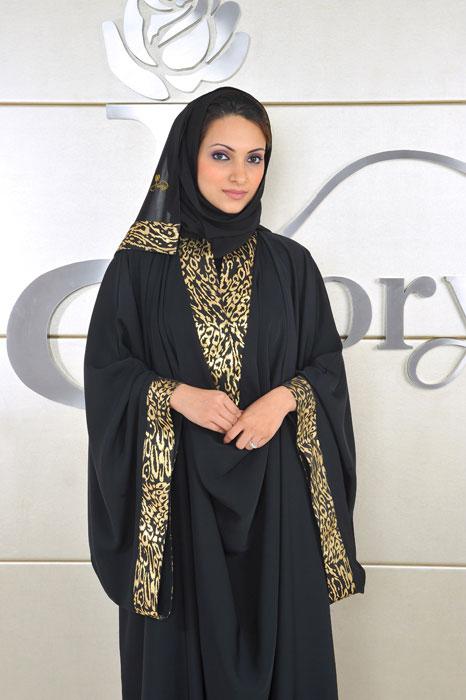 Гламурная мусульманка в абайе. Фото