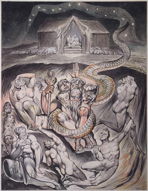 Уильям Блейк. Подземный змий, Дракон (Сатана)
