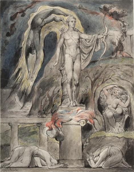 Уильям Блейк. Свержение Аполлона и языческих богов