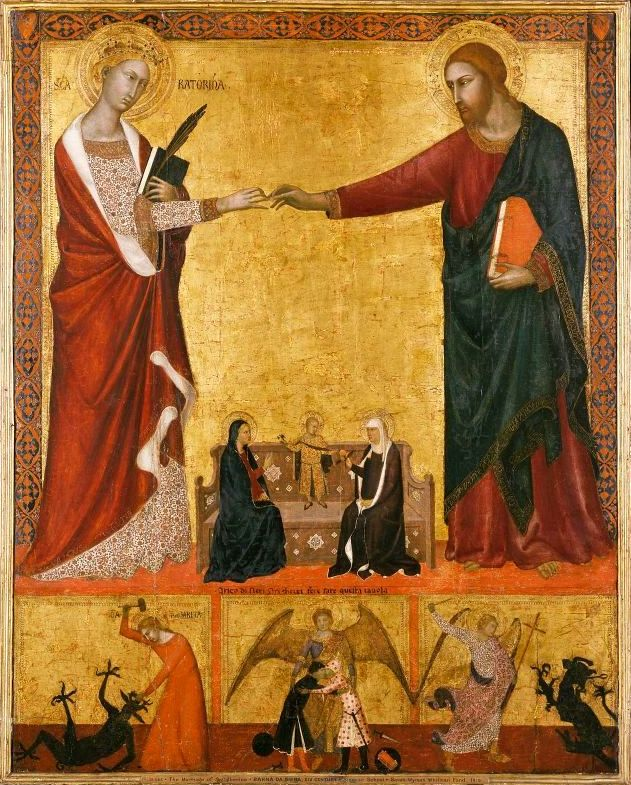 Барна да Сиена. Обручение святой Екатерины Александрийской / Barna da Siena. The Mystic Marriage of Saint Catherine of Alexandria