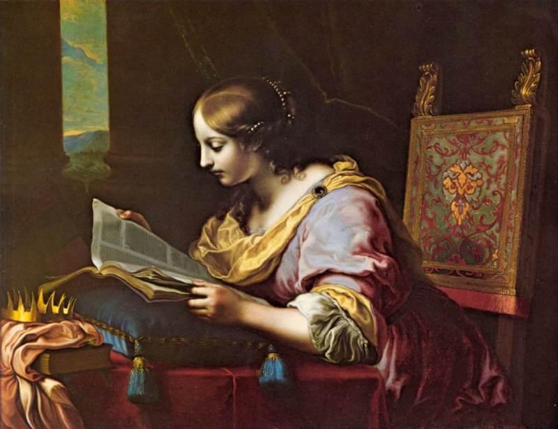 Карло Дольчи. Святая Екатерина читает книгу / Carlo Dolci. Saint Catherine Reading a Book