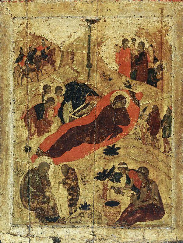 Андрей Рублёв. Рождество Христово. Икона