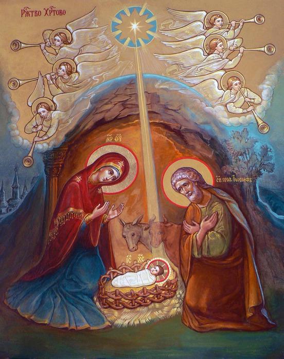Инна Кияткина. Рождество Христово. Икона