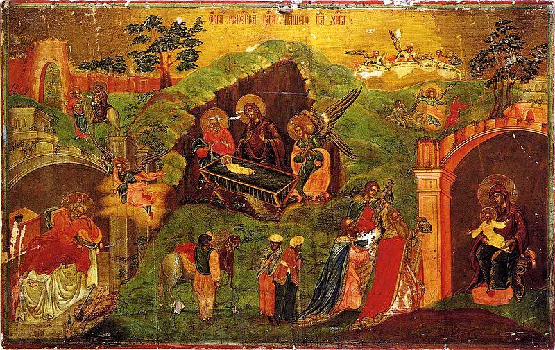 Рождество Христово. Икона 19 век