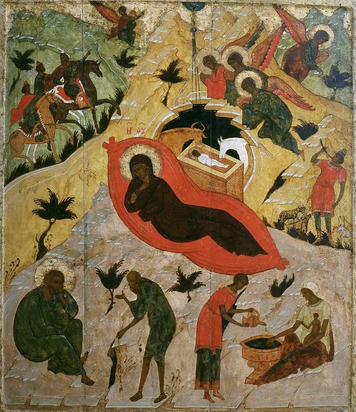 Рождество Христово. Икона. 16 век. Государственный Русский музей
