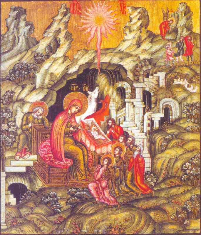 Рождество Христово. Икона. 1685 год. Москва, Оружейная палата