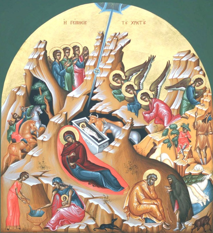 Рождество Христово. Современная греческая кона