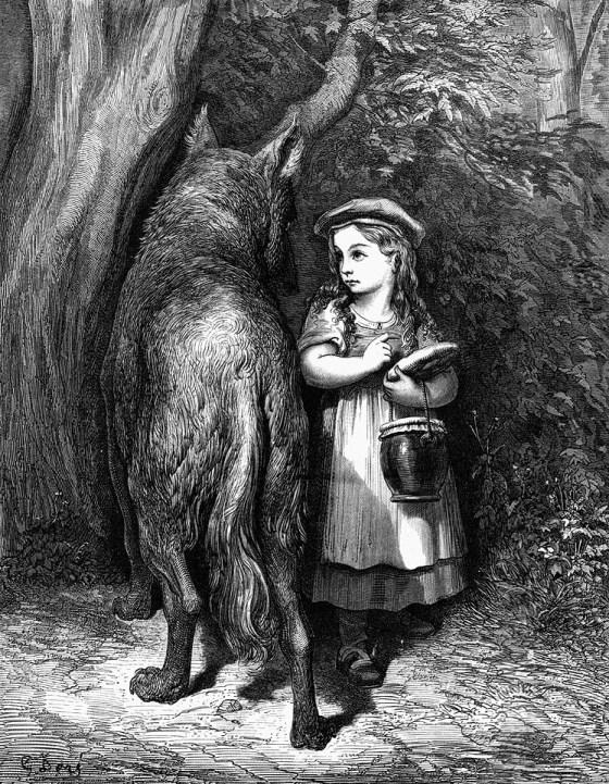 Гюстав Доре. Красная Шапочка и волк / Little Red Riding Hood