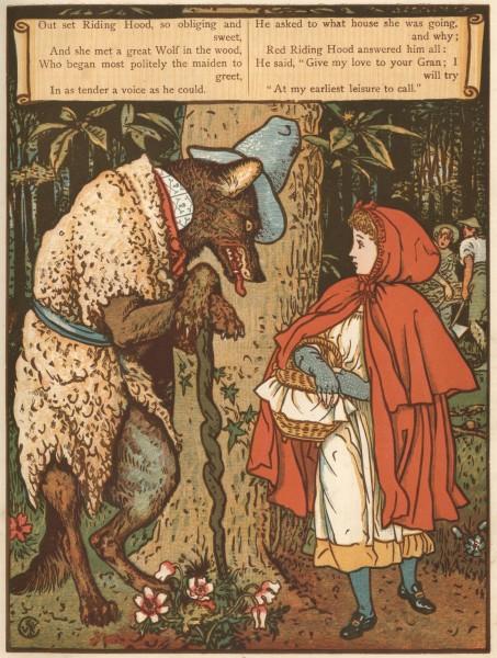 Уолтер Крейн. Красная Шапочка и волк / Walter Crane. Little Red Riding Hood