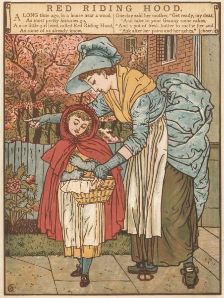 Уолтер Крейн. Красная Шапочка и мать / Walter Crane. Little Red Riding Hood