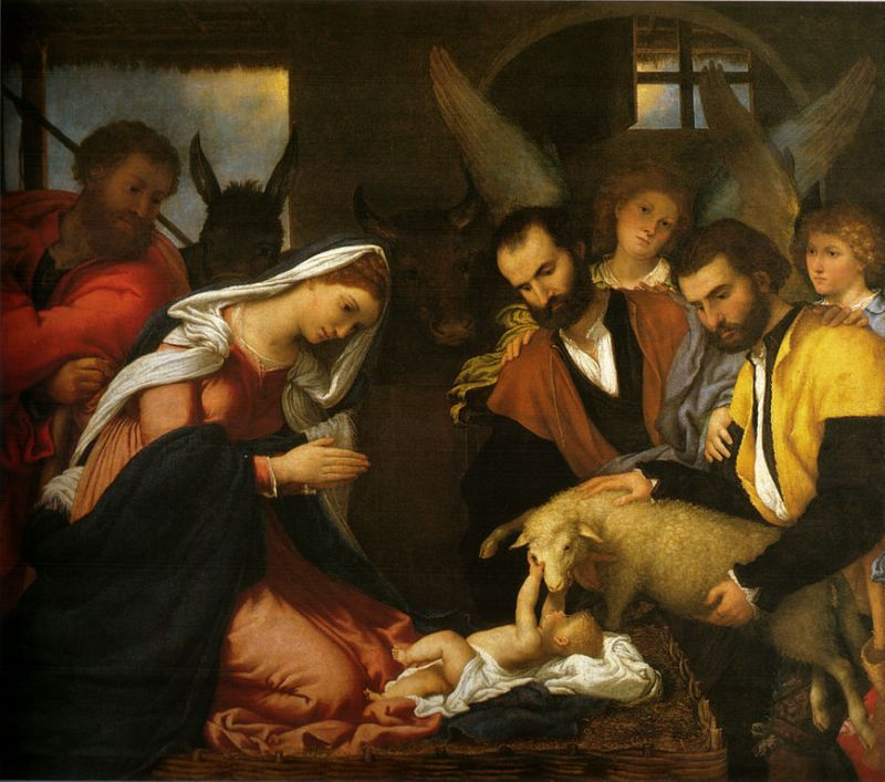 Лоренцо Лотто. Поклонение пастухов / Lorenzo Lotto. Adoration by the shepherds