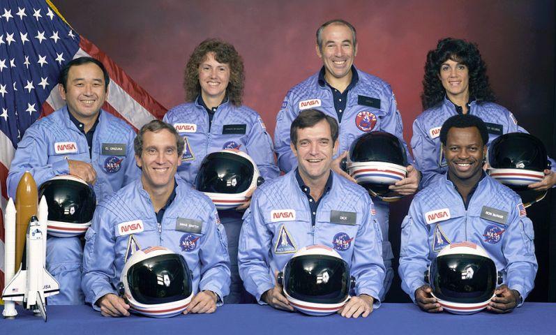 Погибший экипаж космического корабля Челленджер. Фото
