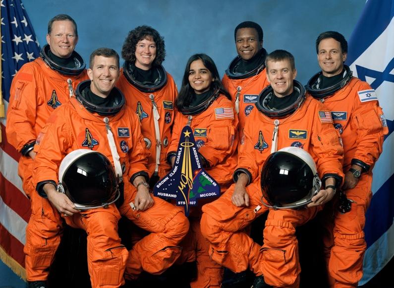 Экипаж погибшего шаттла Колумбия. Фото