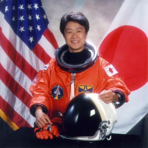 первая японская женщина-космонавт Тиаки Мукаи. Фото