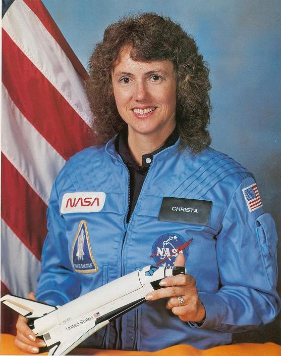 американская женщина-космонавт (астронавт) Криста МакОлифф. Фото