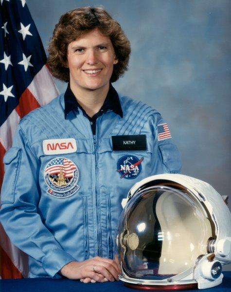 американская женщина-космонавт (астронавт) Кэтрин Дуайер Салливэн. Фото