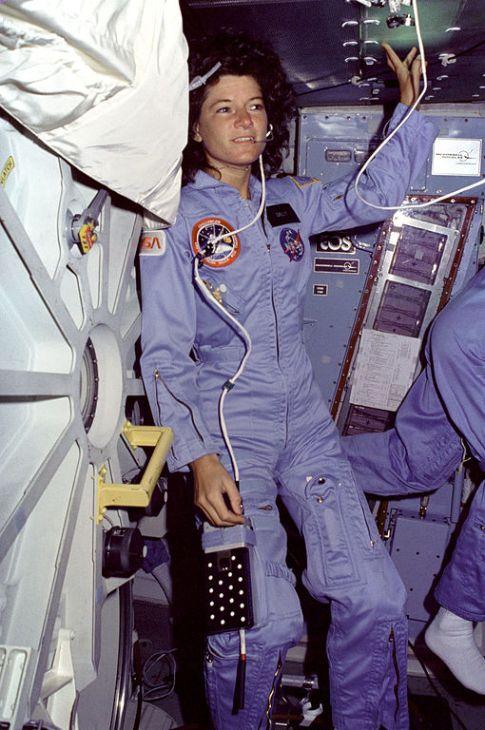 третья женщина-космонавтка (астронавтка) Салли Райд. Фото