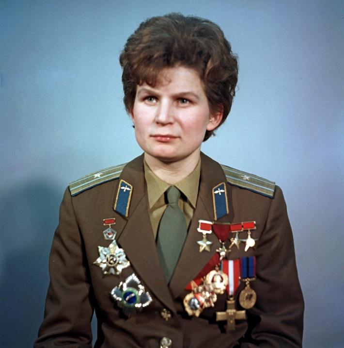 первая женщина-космонавтка Валентина Терешкова. Фото