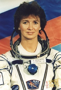 российская женщина-космонавт Елена Кондакова. Фото
