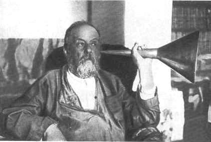 Константин Циолковский со слуховой трубкой. Фото / Konstantin Tsiolkovsky. Photo