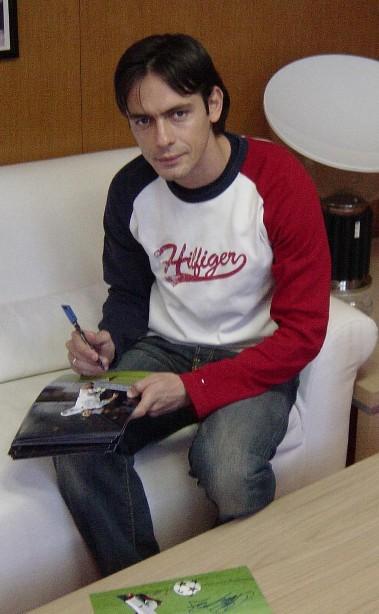 красивый итальянец-футболист Филиппо Индзаги. Фото