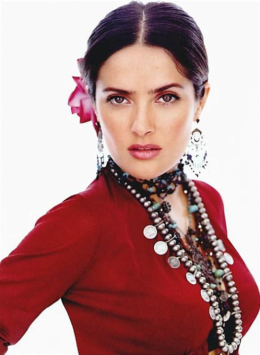 Самая красивая мексиканская арабка Сальма Хайек. Фото