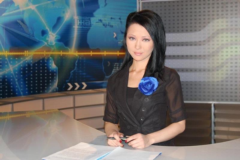 Асель Акбарова - телеведущая на казахстанском канале Хабар. фото