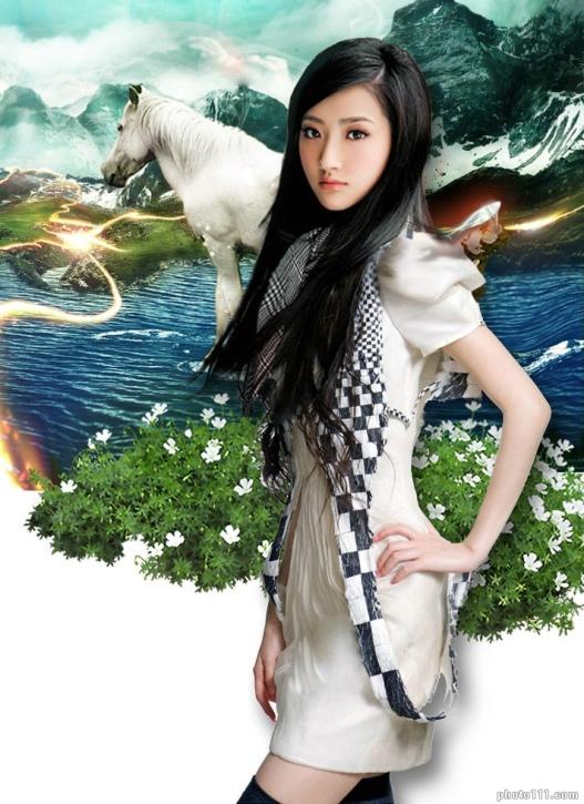 Цзин Тянь / Jing Tian, китайская актриса. фото
