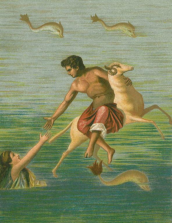 Фрикс и Гелла. Копия древнеримской фрески