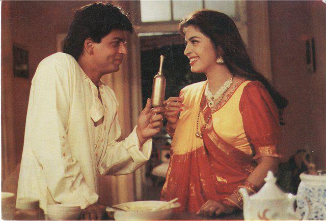 Шахрукх Кхан и Джухи Чавла. фото