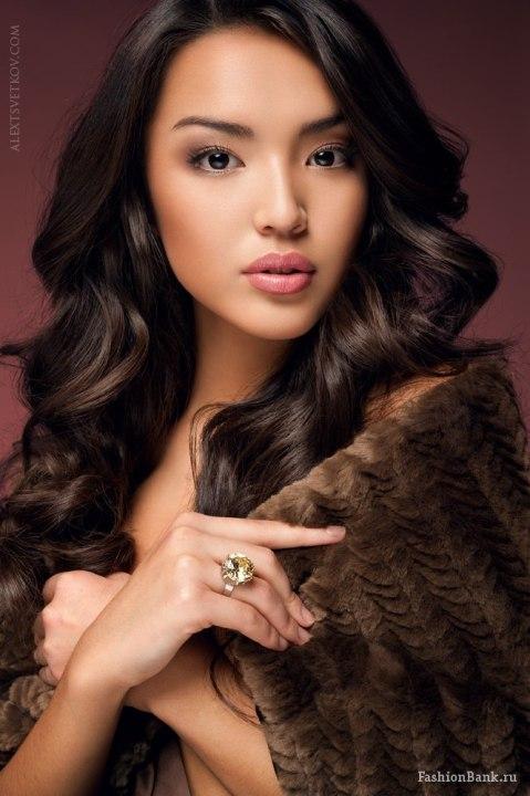 самая красивая киргизка Майя Абибова - модель. фото