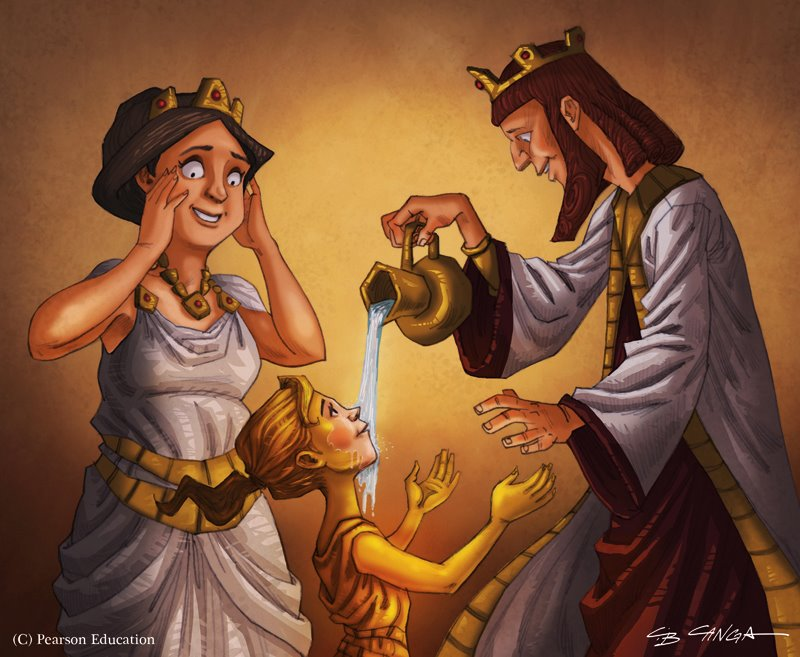 an analysis of the story of king midas a tale of greek mythology