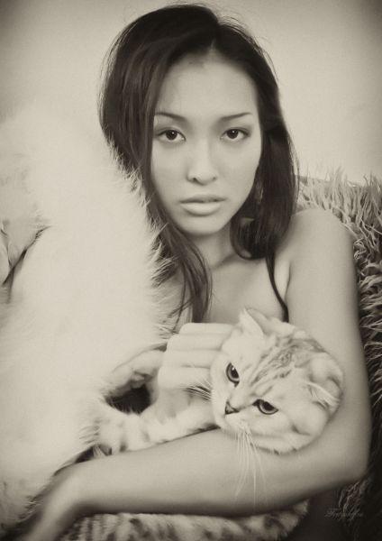 самая красивая якутка Полина Протодьяконова - модель, мисс Виртуальная Якутия 2006. фото