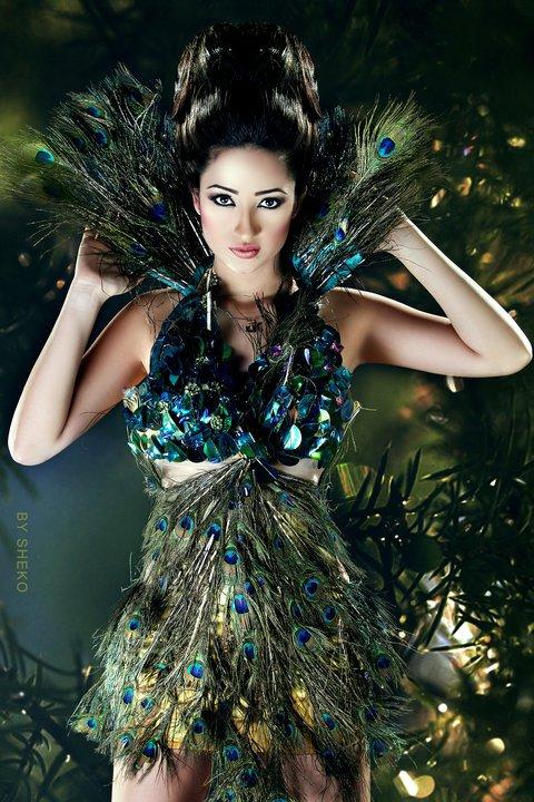 красивая девушка-египтянка Doaa Hakam Al-Malla. фото