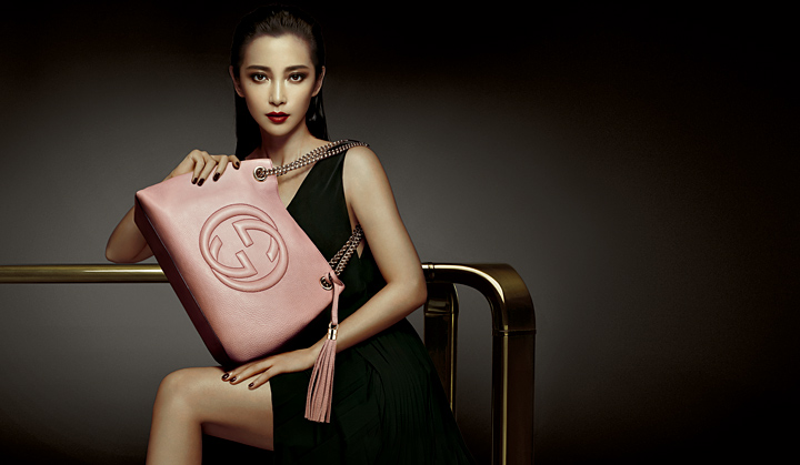 реклама сумки Гуччи / Gucci. Ли Бинбин. фото