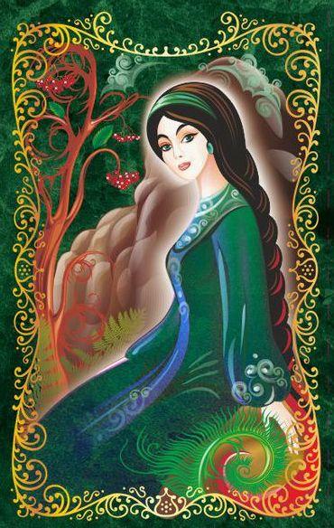 Хозяйка Медной горы. Иллюстрация