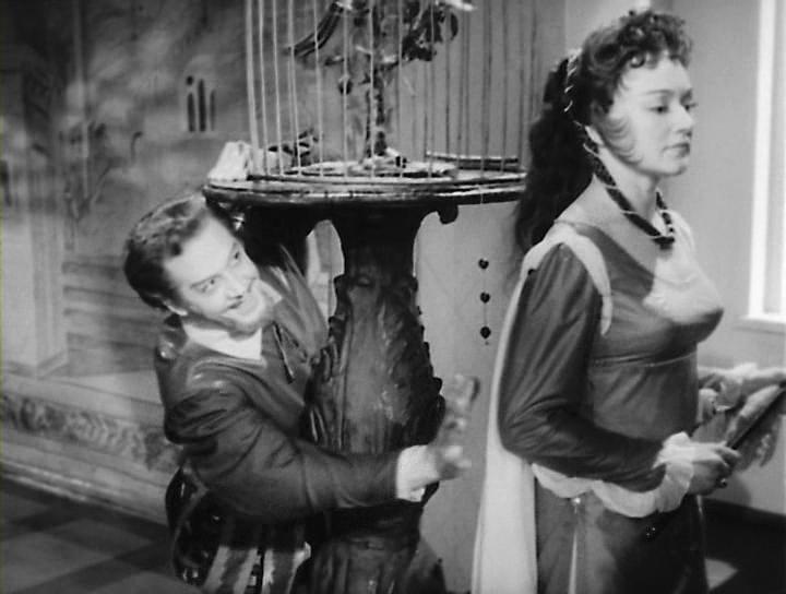 Людмила Касаткина в роли Катарины, Андрей Попов в роли Петручио (Укрощение строптивой, 1961)