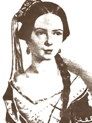 русская балерина Мария Ивановна Данилова. портрет