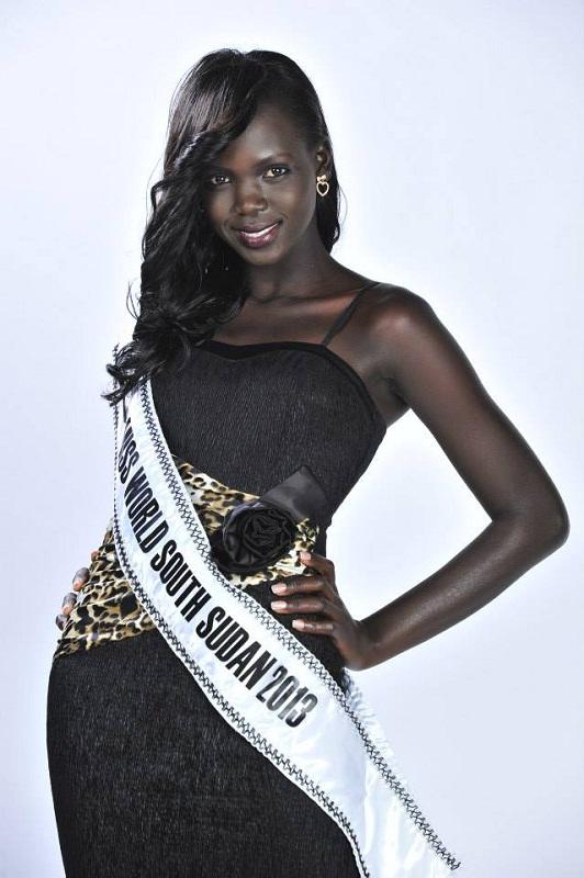 участница Мисс мира 2013 Manuela Mogga Matong Южный Судан фото