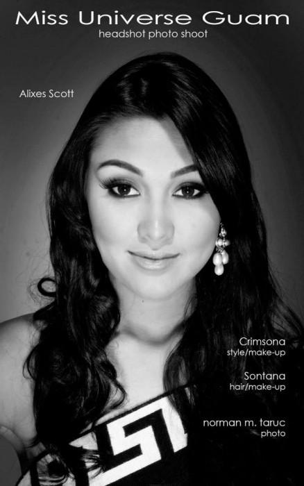 участница конкурса Мисс Вселенная 2013 Alixes Scott Гуам фото