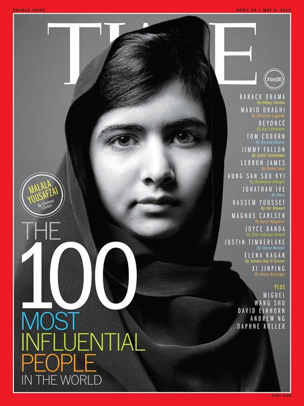 пакистанская девочка Малала Юсуфзай на обложке журнала Time. фото