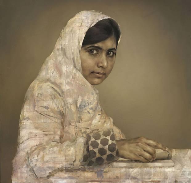 портрет Малалы Юсуфзай. художник Jonathan Yeo