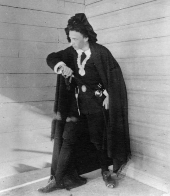 Александр Блок в роли Гамлета, 1898 год