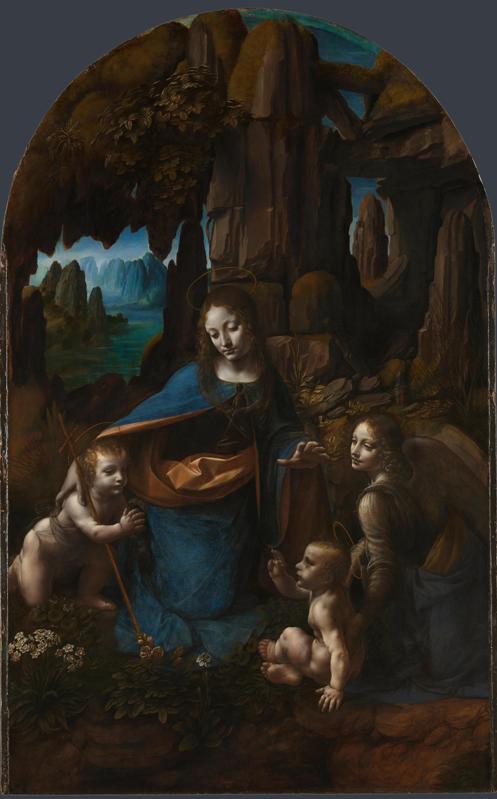Леонардо да Винчи. Мадонна в скалах. Лондонская национальная галерея