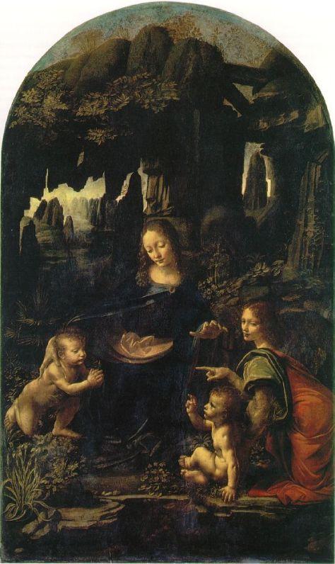 Леонардо да Винчи. Мадонна в скалах. Лувр