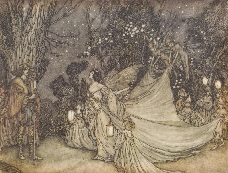 Артур Рэкхем - Титания и Оберон (Шекспир - Сон в летнюю ночь)