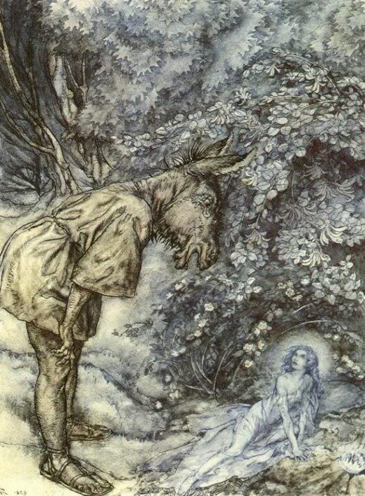 Артур Рэкхем - Титания и Основа (Шекспир - Сон в летнюю ночь)