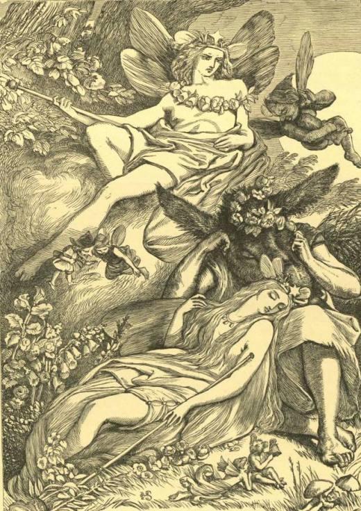 Оберон, Титания и Моток (Основа) (Шекспир - Сон в летнюю ночь)